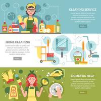 Ensemble de bannière de service de nettoyage