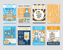 Bannières de ligne de cartes médicales