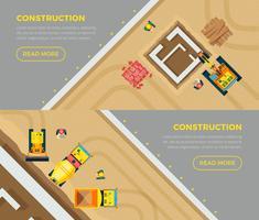 Jeu de bannières de construction