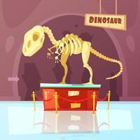 Illustration de musée dinosaure vecteur
