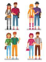 Concept de couples de hipster