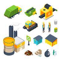 ordures isométrique jeu d'icônes
