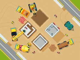 Illustration de la construction vue de dessus