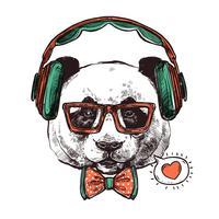 Hipster Portrait Animaux vecteur
