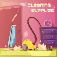 Illustration d'équipement de nettoyage vecteur