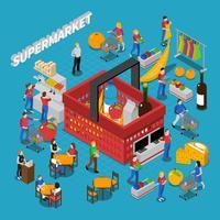Composition du concept de supermarché vecteur