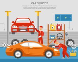 Services mécaniques de voiture vecteur