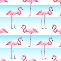 Motif de rayures horizontales sans couture rose Flamingo vecteur