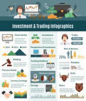 Infographie d'investissement et de négociation