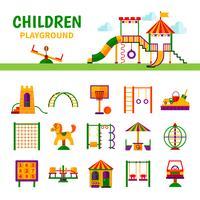 Equipements de jeux pour enfants vecteur