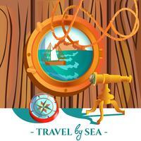 Affiche nautique de mer