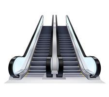 Set d'escalators haut et bas vecteur