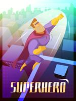 Illustration d'affiche de super-héros vecteur