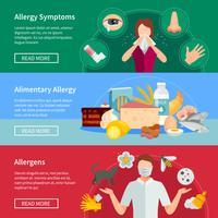 Ensemble de bannières d'allergie