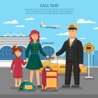 Illustration du service de taxi