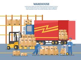 Affiche de livraison logistique