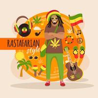 Pack Personnage Rastafarien Pour Homme vecteur