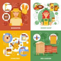 Concept de design d'apiculture