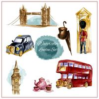 Aquarelle London Set vecteur