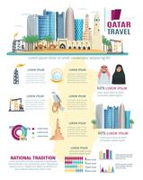 Ensemble d'infographie du Qatar vecteur