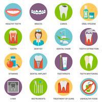 Set d'icônes de soins dentaires vecteur