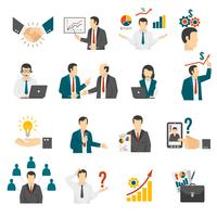 .Business Training Consulting Service Service Icons Set. vecteur
