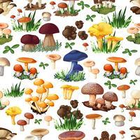 Modèle sans couture aux champignons vecteur
