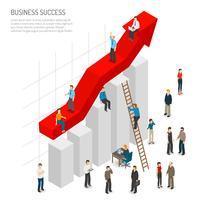 Affiches de gens de succès d'affaires vecteur