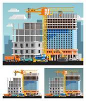 Ensemble de composition de construction et de ville