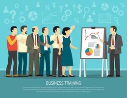Business Training Program Class Illustration à plat