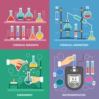 Concept de laboratoire de chimie vecteur