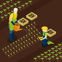 Retraite Farmers Life Bannière isométrique Isomentrique