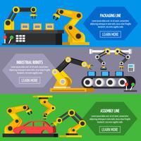 Bannières orthogonales pour convoyeur automatique vecteur