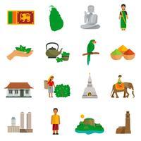 Icônes du Sri Lanka vecteur