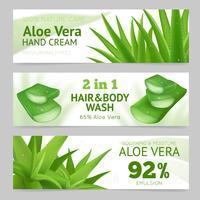 Bannières Aloe Vera horizontales