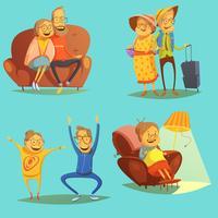 Ensemble d'icônes personnes âgées