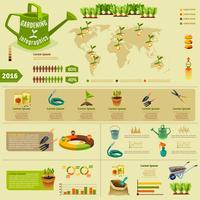 Mise en page infographique de jardinage