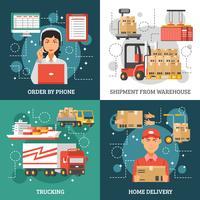 Concept de conception de livraison logistique vecteur