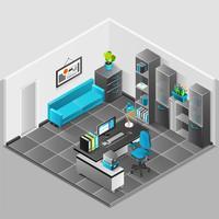 Design d'intérieur de bureau vecteur