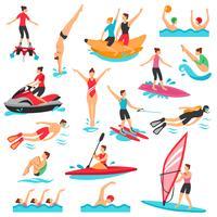 Set de sport nautique vecteur