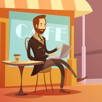 Illustration de travail d'homme d'affaires