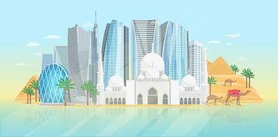 Affiche des Emirats Arabes Unis vecteur