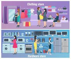 Femme Shopping Bannières