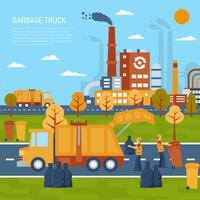Concept de camion à ordures