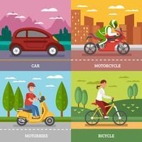 Concept de transport personnel vecteur