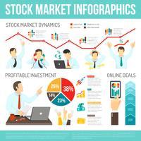 Infographie boursière vecteur