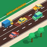 Illustration du système Auto Safe vecteur