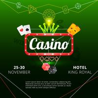 Affiche d'invitation de casino