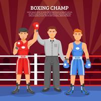 Composition de champion de boxe