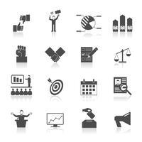 Élection Icons Set vecteur